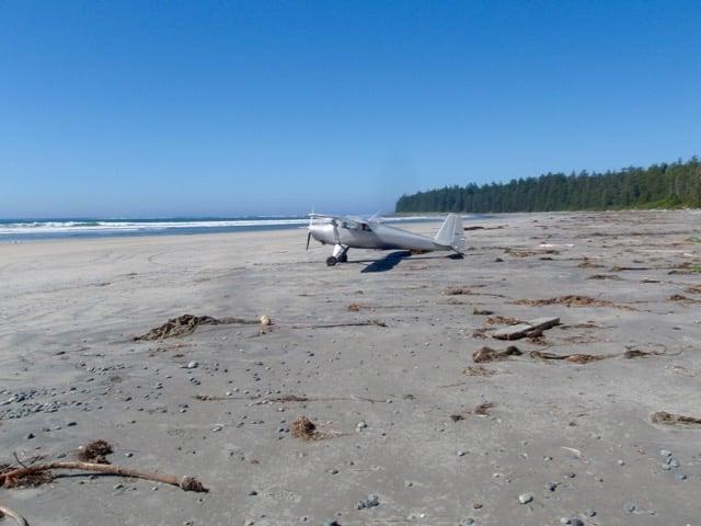 Calvin Falls beach on the Nootka Trail