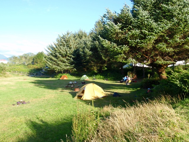 Camping in Yuquot