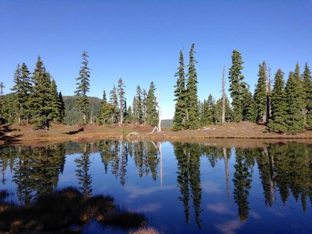 Sub-alpine lake in Strathcona Provincial Park