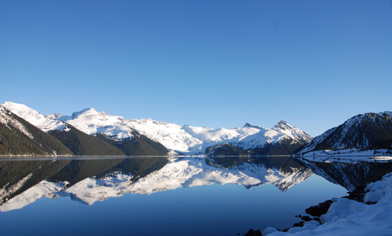 Winter reflections at Garibaldi Lake