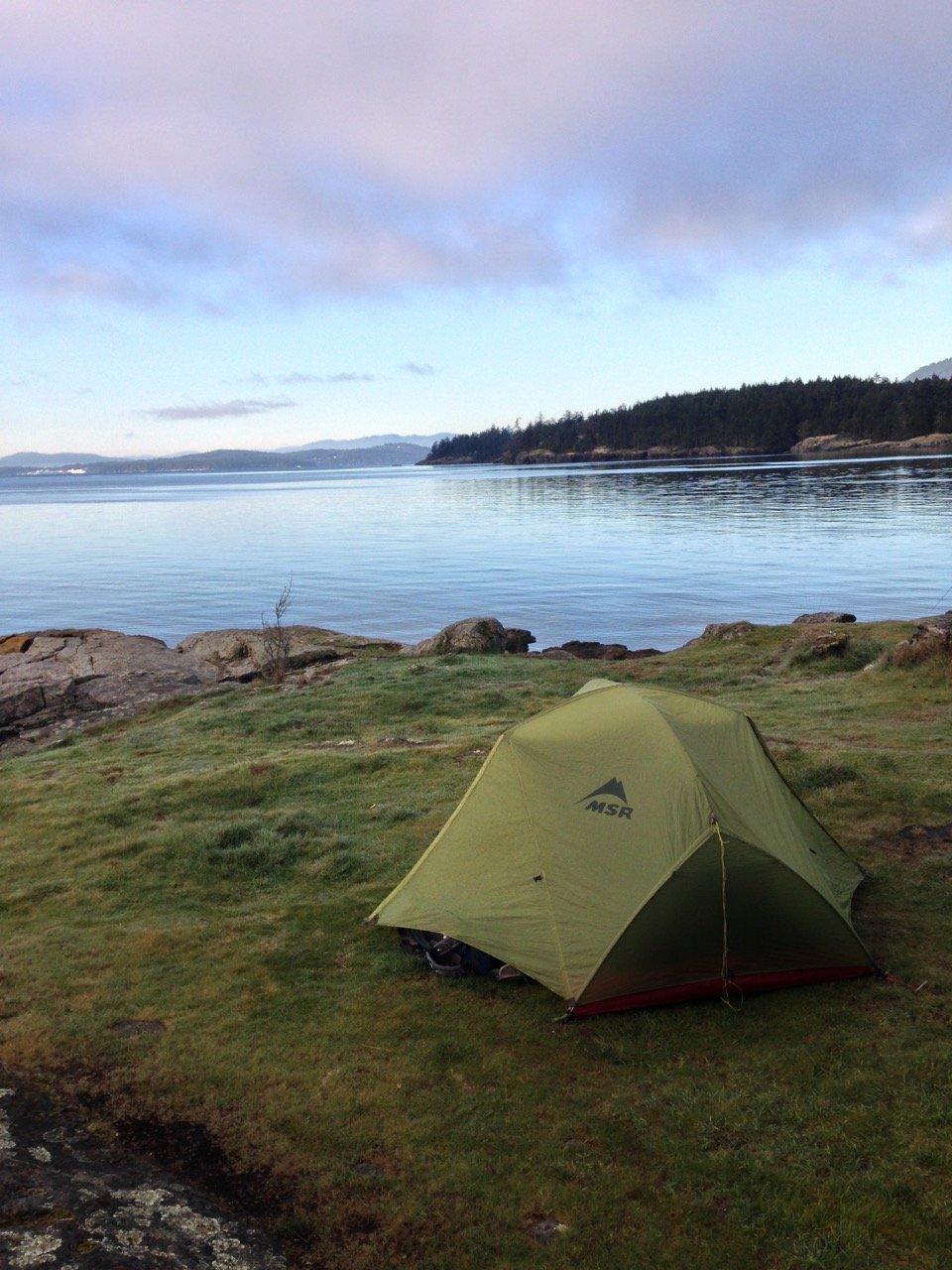 Camping at Ruckle Provincial Park on Salt Spring Island