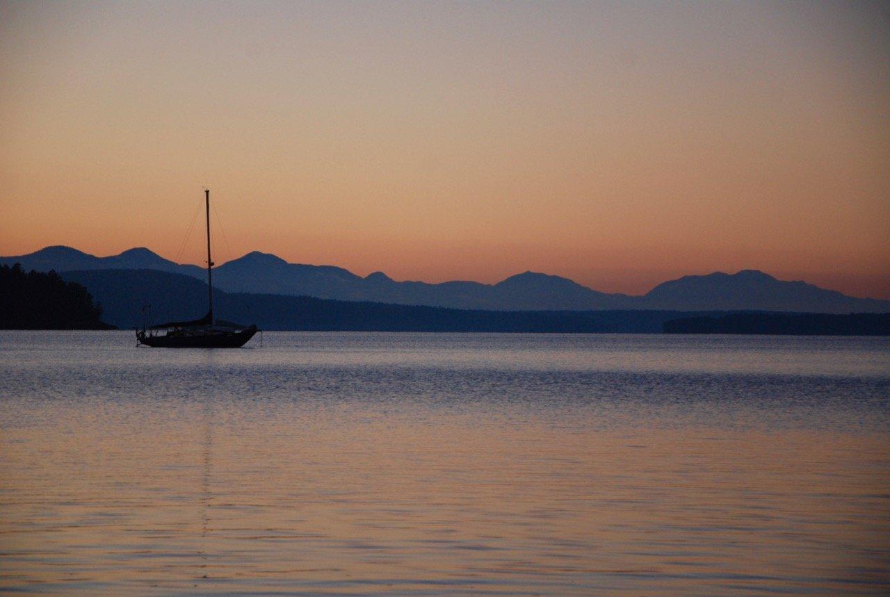 Sunset on Galiano Island