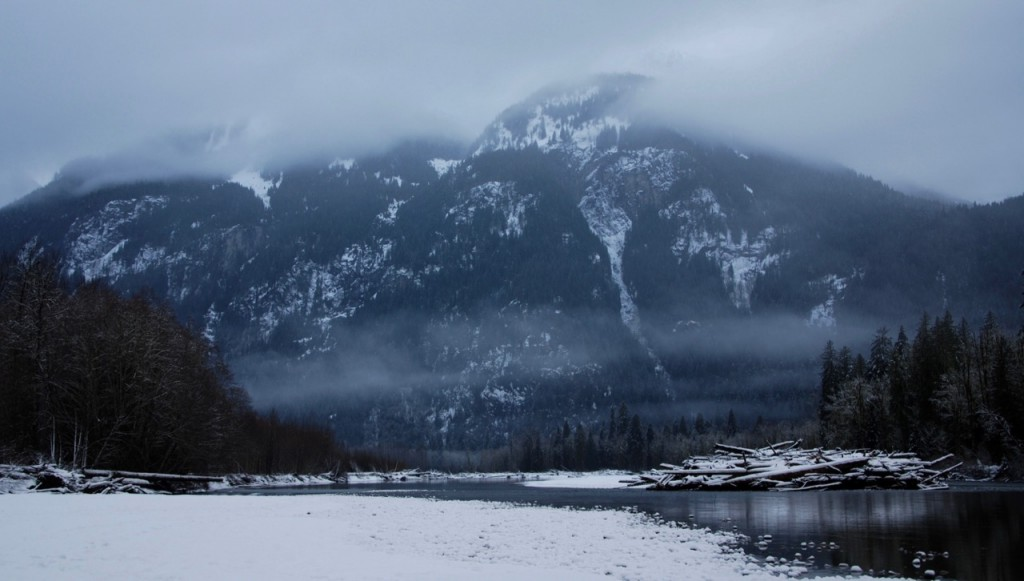 Squamish River in winter