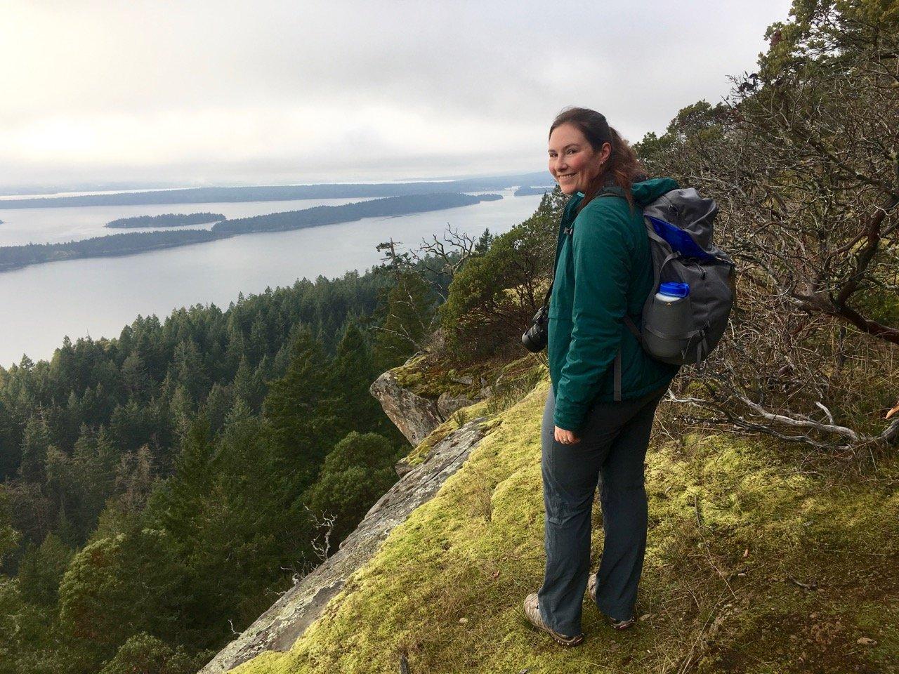 Hiking on Bodega Ridge on Galiano Island