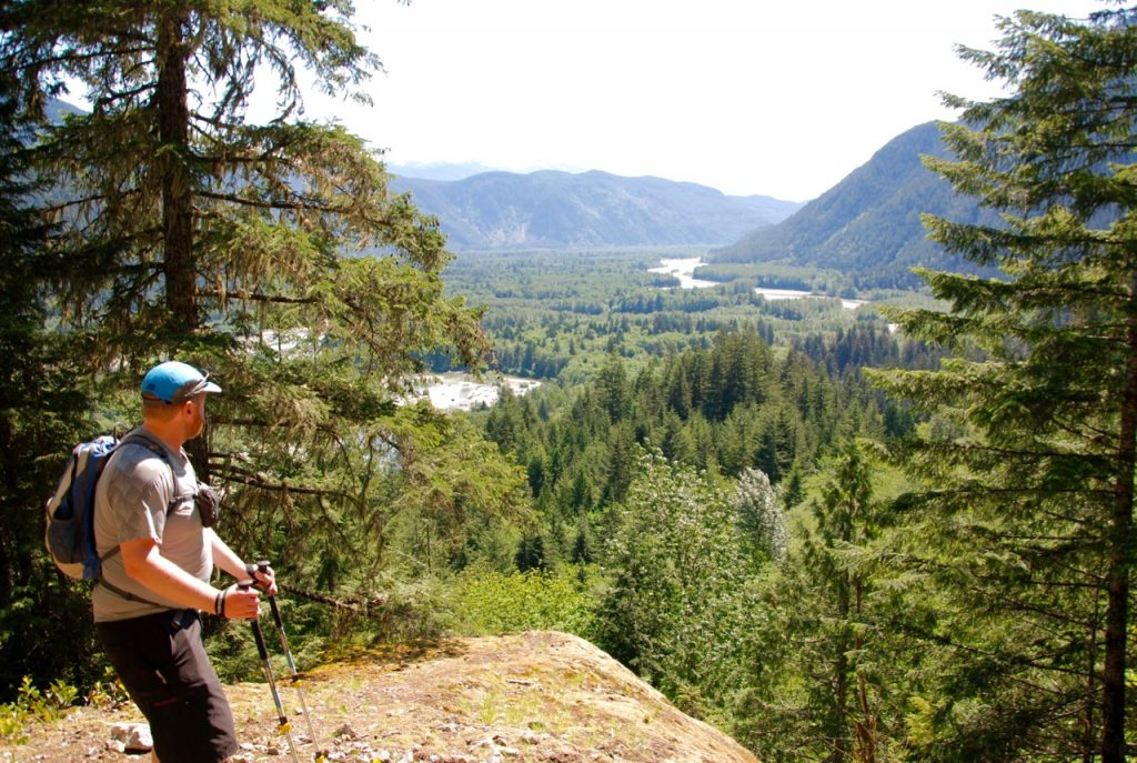 Squamish River Valley from the hike to Crooked Falls