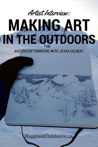 Artist Interview: Making Art in the Outdoors. #GetOutofTownVibe with Jessa Gilbert. Jessa is a Vancouver based artist, splitboarder and mountain biker who takes her inspiration from the backcountry.