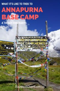 Trekking to Annapurna Base Camp - a 10 day itinerary. Trekking to the Annapurna Sanctuary. A 10 day trek to Annapurna Base Camp.
