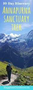 The Annapurna Sanctuary Trek: a 10 day itinerary. Trekking to Annapurna Base Camp. Trekking to the Annapurna Sanctuary. A 10 day trek to Annapurna Base Camp. #nepal #annapurna #trekking