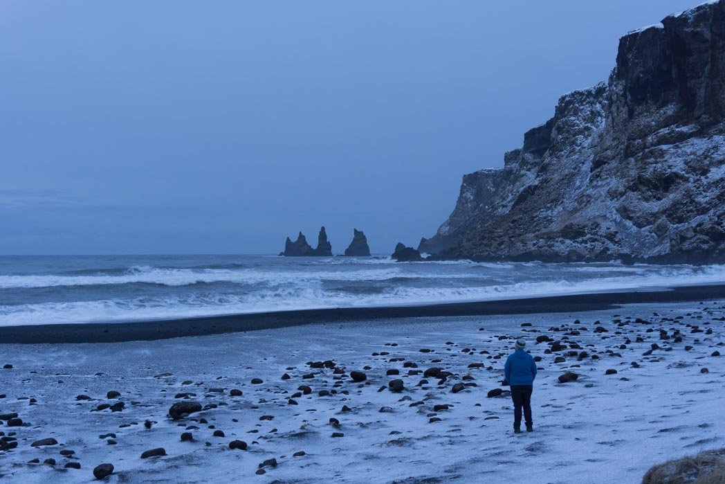 Pre-dawn light at Vik in winter in Iceland: 7 Things You Might Not Know About Winter in Iceland