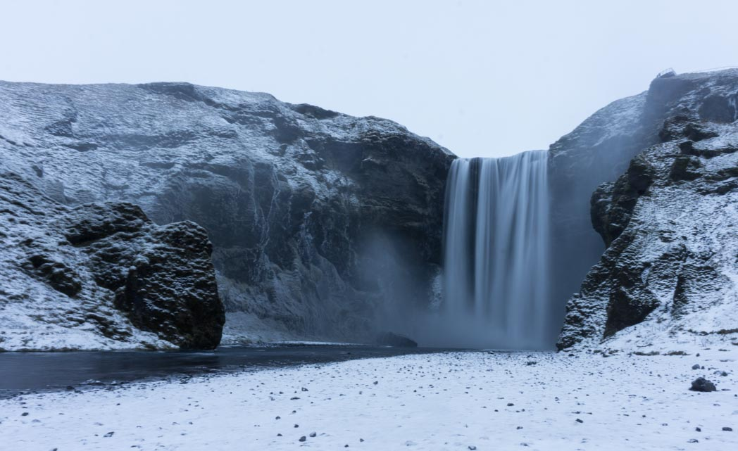 Skogafoss in winter in Iceland: 7 Things You Might Not Know About Winter in Iceland
