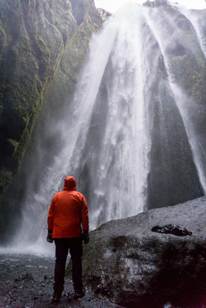 Gljúfrabúi waterfall in a cave in Iceland. A winter week in Iceland. Iceland in January. 35 Photos that will make you want to go to Iceland in winter.