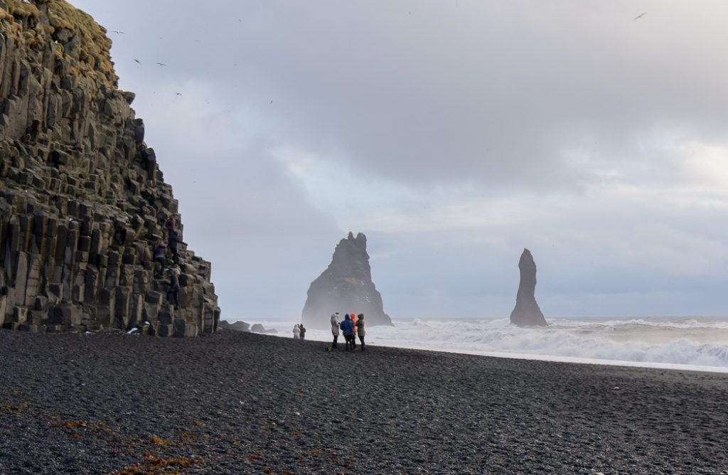 Reynisfjara black sand beach and columns. A winter week in Iceland. Iceland in January. 35 Photos that will make you want to go to Iceland in winter.