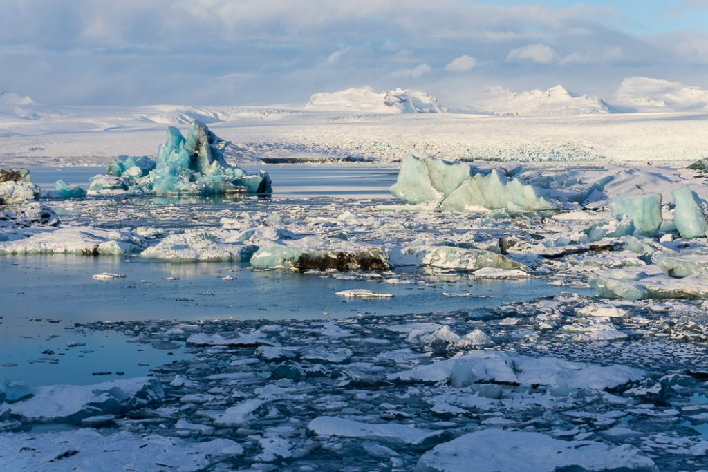 Jokulsarlon in winter. A winter week in Iceland. Iceland in January. 35 Photos that will make you want to go to Iceland in winter.
