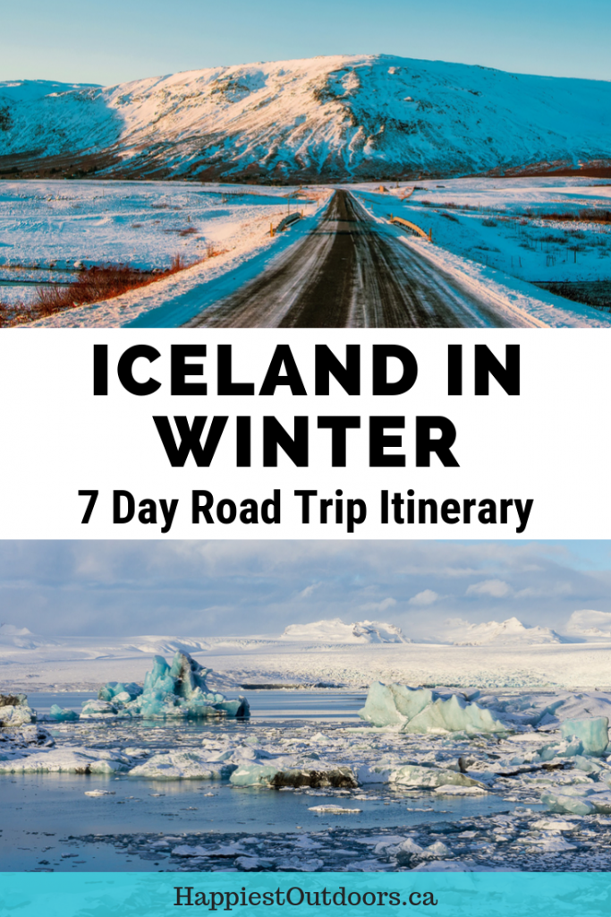 Iceland in Winter: 7 day road trip itinerary. How to spend a week in Iceland in winter. Iceland winter travel tips. Places to visit in Iceland in winter. Winter travel in Iceland. Winter driving in Iceland. #Iceland #roadtrip #winterinIceland #wintertravel