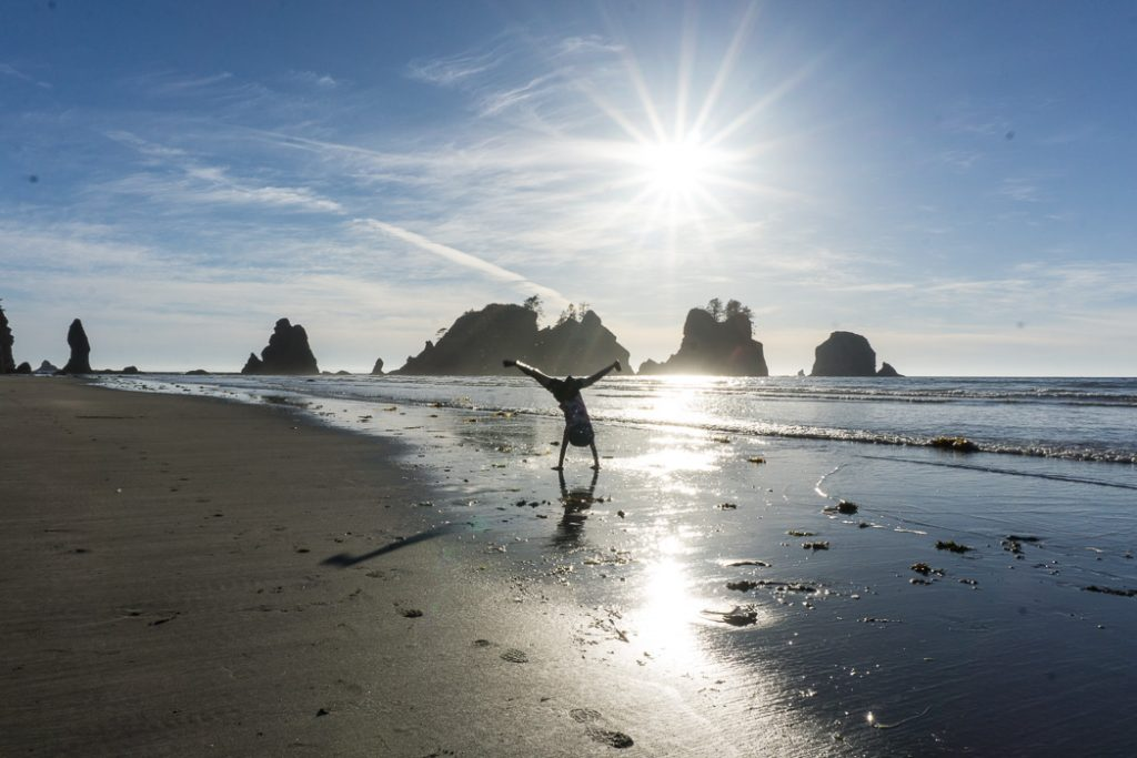 Shi Shi Beach in Olympic National Park. Find out how to reserve campsites on this trail: Washington and BC Backpacking Reservation dates you need to know