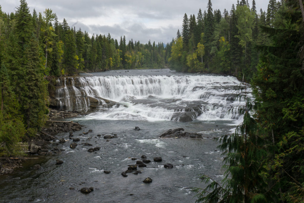 Dawson Falls, one of the many gorgeous waterfalls in Wells Gray Provincial Park near Kamloops, BC