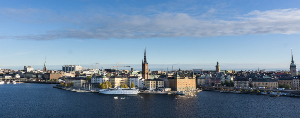The view of Stockholm's old town from the bluffs in Sodermalm. 30 photos of Stockholm that will inspire you to visit.