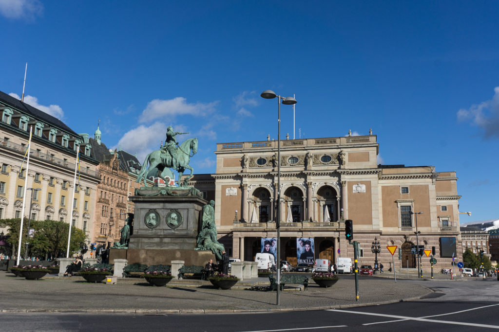 Gustav Adolfs Torg Square in Stockholm. Visit it on the Ultimate Self-Guided Walking Tour of Stockholm