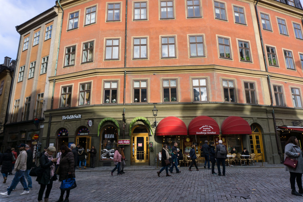 Jarntorget in Gamla Stan, Stockholm. Visit it on the Ultimate Self-Guided Walking Tour of Stockholm