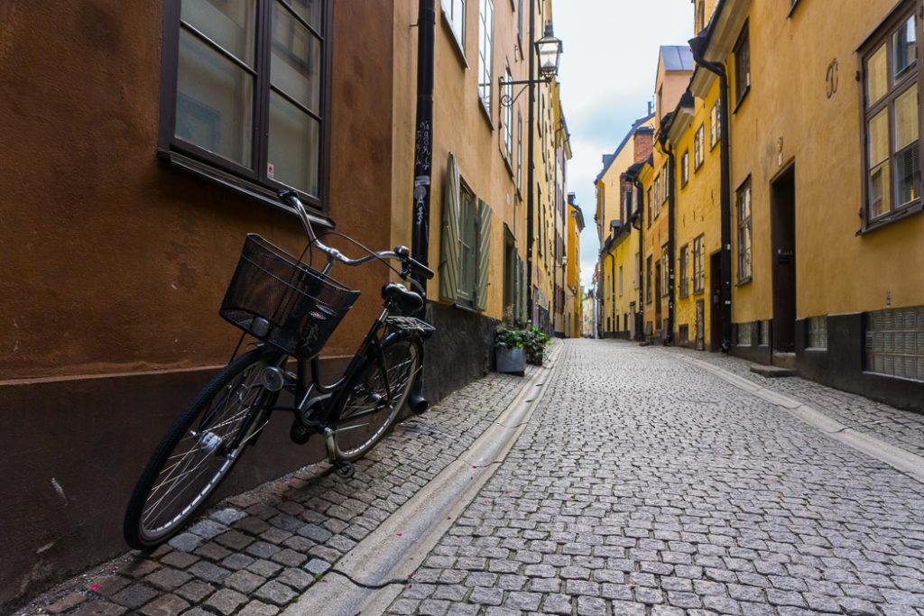 Prastgatan in Gamla Stan, Stockholm. Visit it on the Ultimate Self-Guided Walking Tour of Stockholm