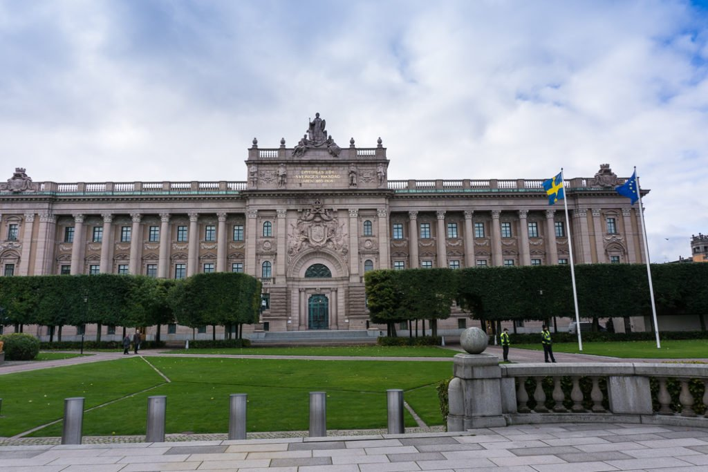 Riksdagshuset. Visit it on the Ultimate Self-Guided Walking Tour of Stockholm.