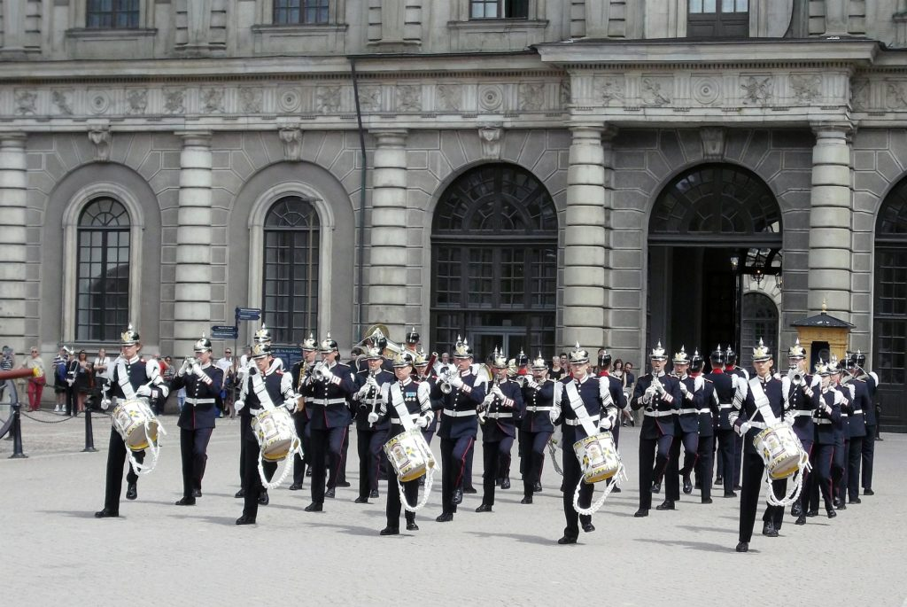 Changing of the Guard in Stockholm. Visit it on the Ultimate Self-Guided Walking Tour of Stockholm
