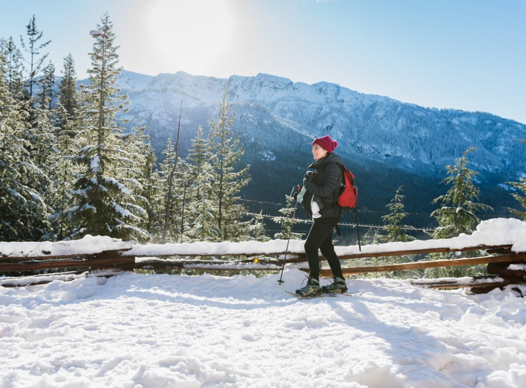 Snowshoeing on the Wonderland Lake Loop at the Sea to Sky Gondola in Squamish, BC. The Ultimate Guide to Snowshoeing in Squamish.