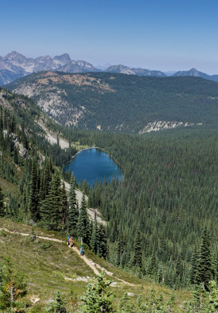 Nicomen Lake on the Heather Trail in Manning Provincial Park, BC, Canada