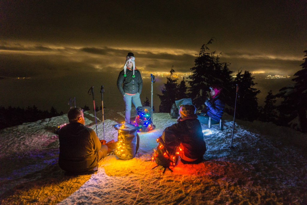 Snowshoeing at Dog Mountain, Mount Seymour Provincial Park, BC, Canada