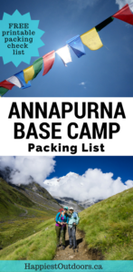 What to pack for the Annapurna Base Camp Trek in Nepal. Find out exactly what to pack and what you don't need. Includes a free printable packing checklist.