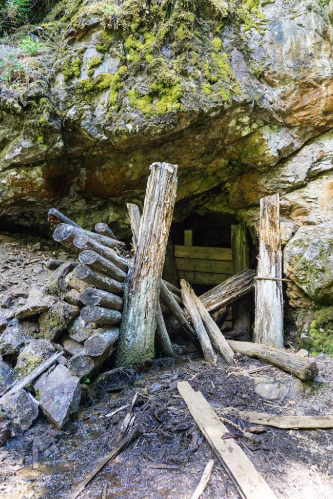 An abandoned mine shaft along the Skagit River Trail in Manning Provincial Park. Just one of 15 unusual hikes near Vancouver.