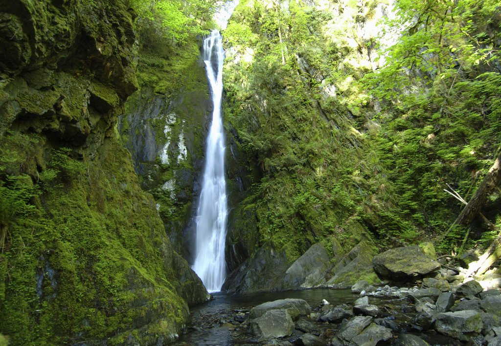 NIagara Falls in Goldstream Provincial Park makes a great pit stop along the Pacific Marine Circle Route.