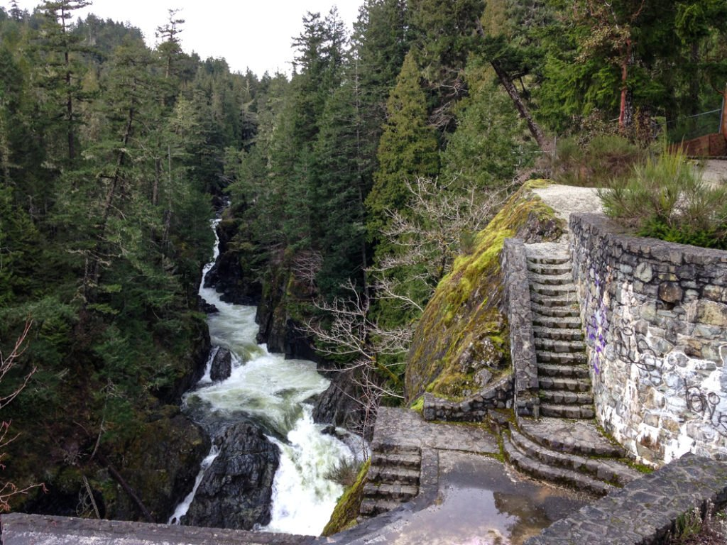 The Sooke Potholes, just one of many great viewpoints along the Pacific Marine Circle Route on Vancouver Island.