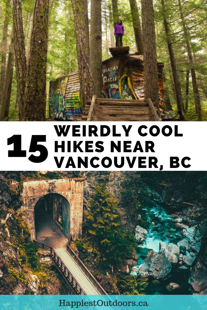 15 weirdly cool hikes near Vancouver, BC, Canada. Unusual hikes in Vancouver. Hiking in Vancouver. Off-the-beaten-path hikes in Vancouver. #Vancouver #hiking #Vancouverhikes #BritishColumbia #Canada