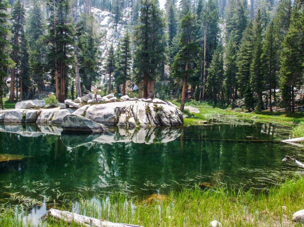 Hiking at Heather Lake along the Lakes Trail in Sequoia National Park - just one of many things to do in Sequoia and Kings Canyon National Parks.