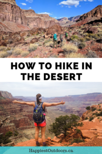 How to hike in the desert. Don't be afraid of the heat. Get these tips for desert hiking including how to stay safe, what to bring and how to avoid heat stroke.