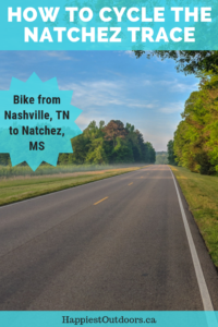 How to cycle the Natchez Trace Parkway from Nashville to Natchez. Bike tour 444 miles along a quiet road through the American South. #biking #USA #cycling