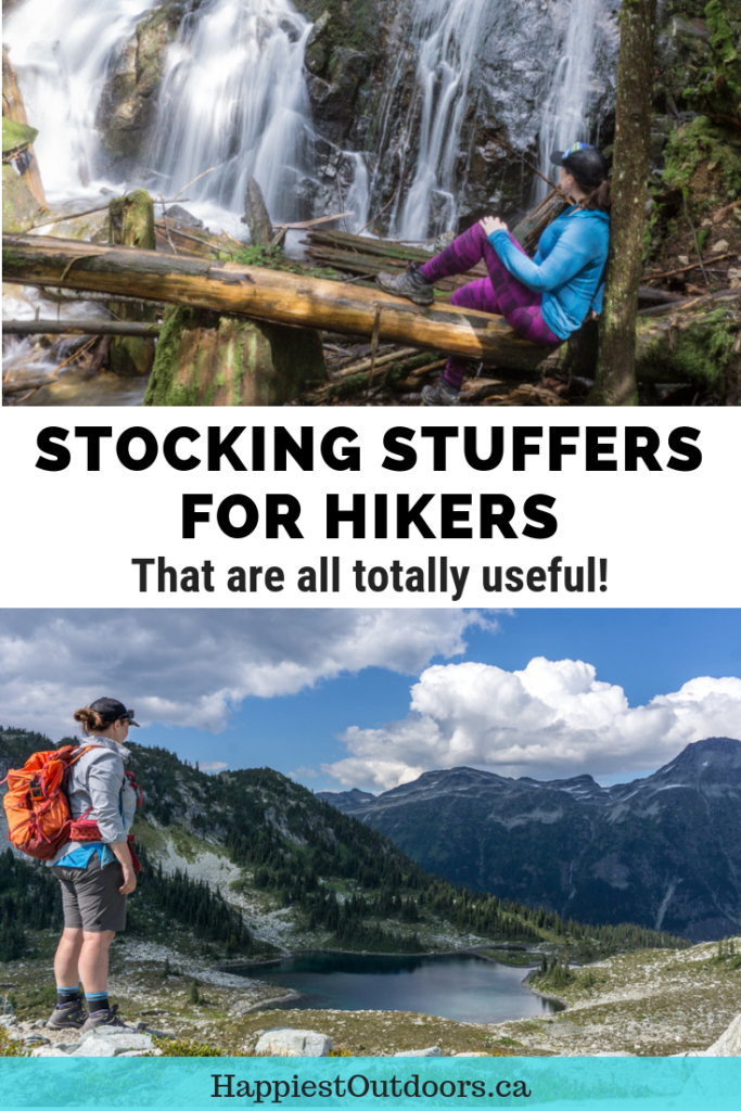 25 stocking stuffers for hikers under $25. A list of awesome stocking stuffers that hikers will actually want AND use - no stupid gimmicks, no silly gadgets. Just stuff they'll love. #hiking #stockingstuffer #hikinggear