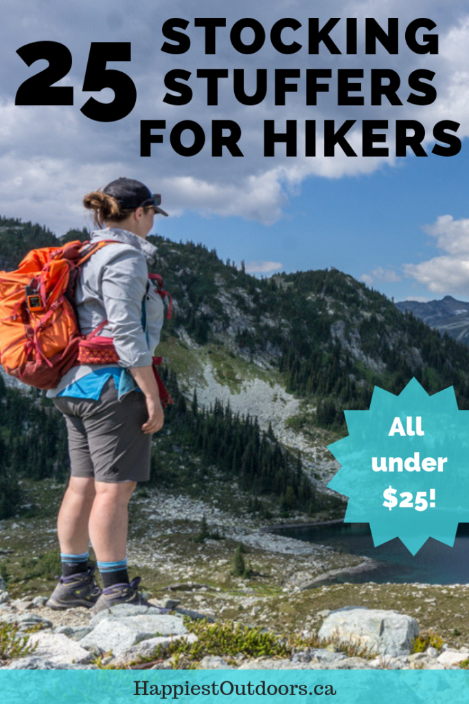 24 stocking stuffers for hikers under $25. A great list of totally useful stocking stuffers that hikers will love. They're all totally useful too. #hiking #stockingstuffer #hikinggear