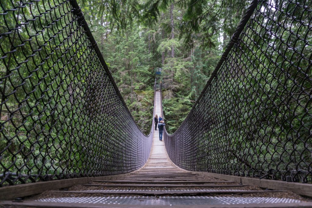 Lynn Canyon suspension bridge is one of the best easy hikes near Vancouver