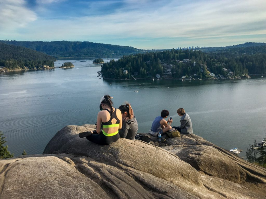 Quarry Rock in Deep Cove near Vancouver, BC