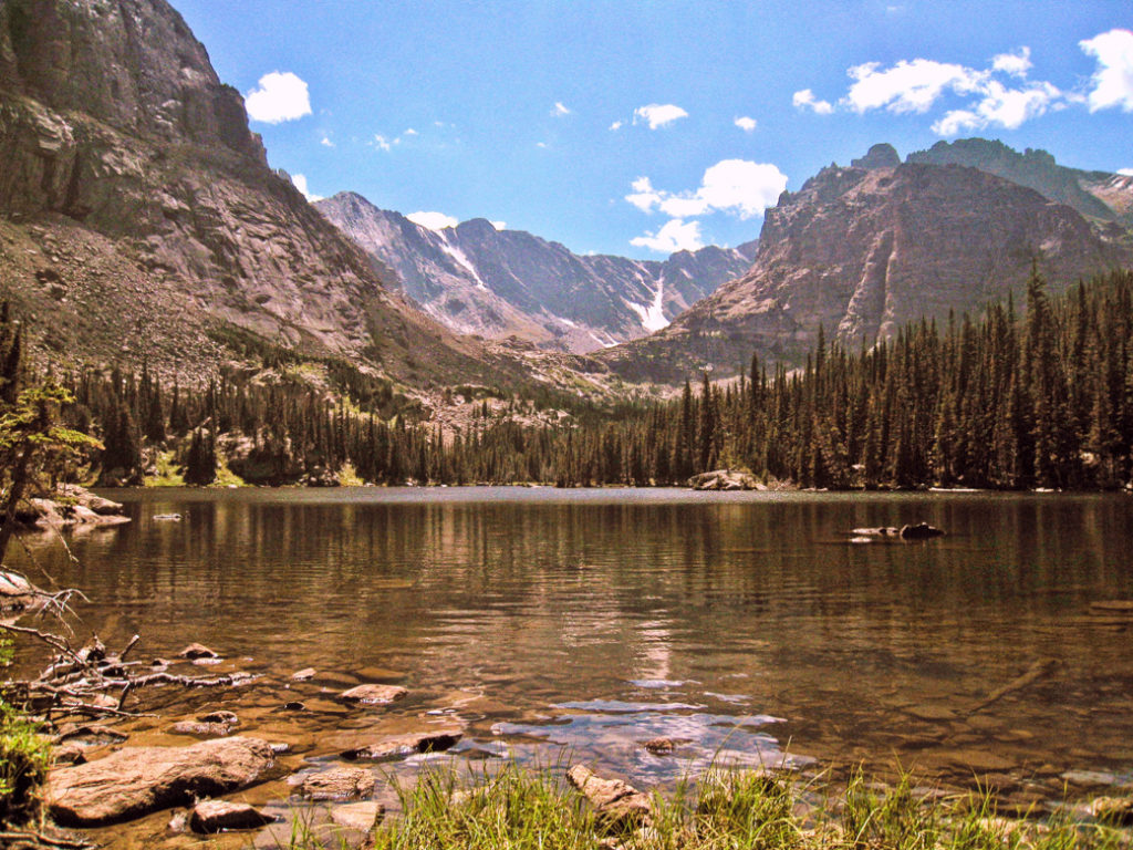 The Lock in Rocky Mountain National Park. One of the best lake hikes in Colorado.