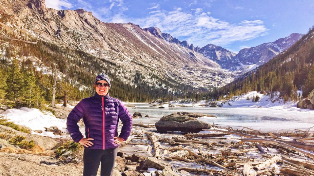 Mills Lake in Rocky Mountain National Park. One of the best lake hikes in Colorado.