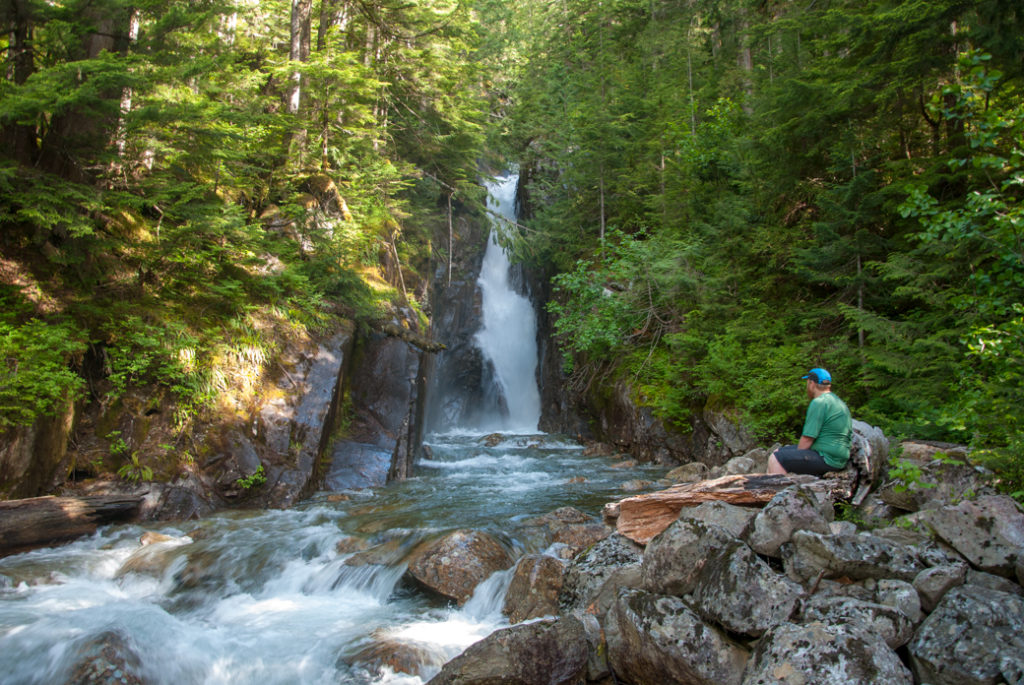 Brotherhood Falls at Statlu Lake in Mission, BC. Just one of over 40 waterfalls near Vancouver you can hike to.