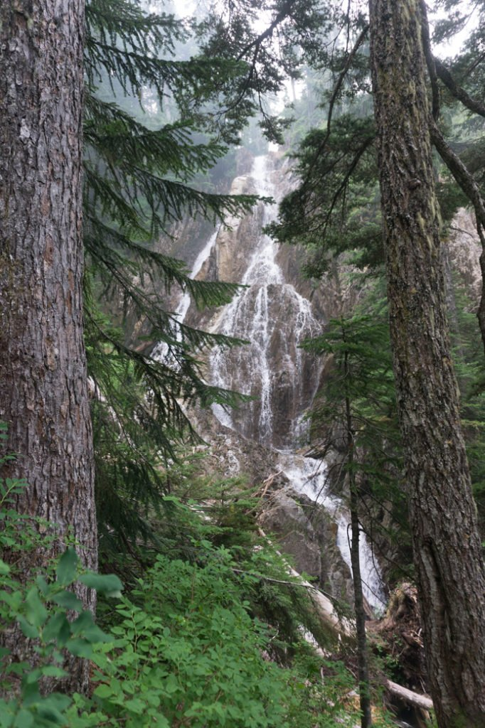 Hannover Falls on the Howe Sound Crest Trail. Just one of over 40 waterfalls near Vancouver you can hike to.