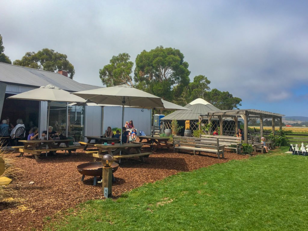 Outdoor cafe at Turners Beach Berry Patch in Devonport, Tasmania. Just one of over 40 things to do in Devonport and Tasmania's North West.