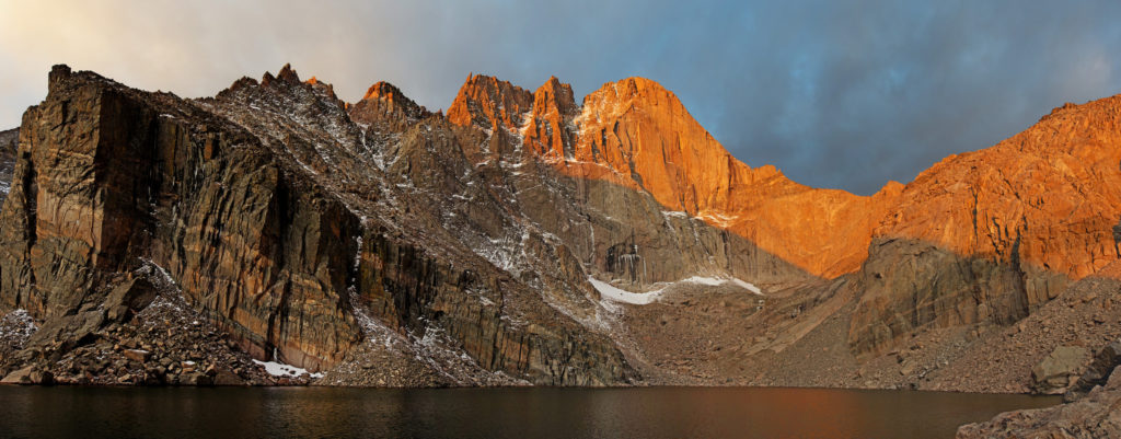 Chasm Lake and Long's Peak in Rocky Mountain National Park. One of the best lake hikes in Colorado.