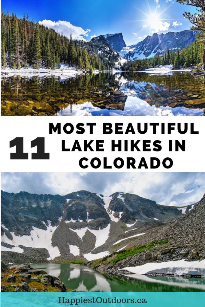 Hike to the most beautiful alpine lakes in Colorado. Includes hikes on both sides of Rocky Mountain National Park, near Aspen and in Colorado's San Juan mountains. #Colorado #hiking #lakes