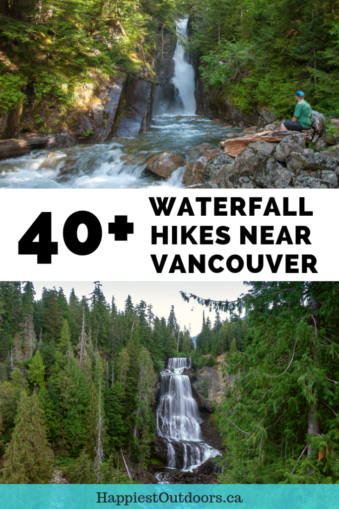 40+ waterfall hikes near Vancouver, BC, Canada. A giant list of hikes to waterfalls near Vancouver including BC's 3rd highest waterfall. #Vancouver #hiking #Canada