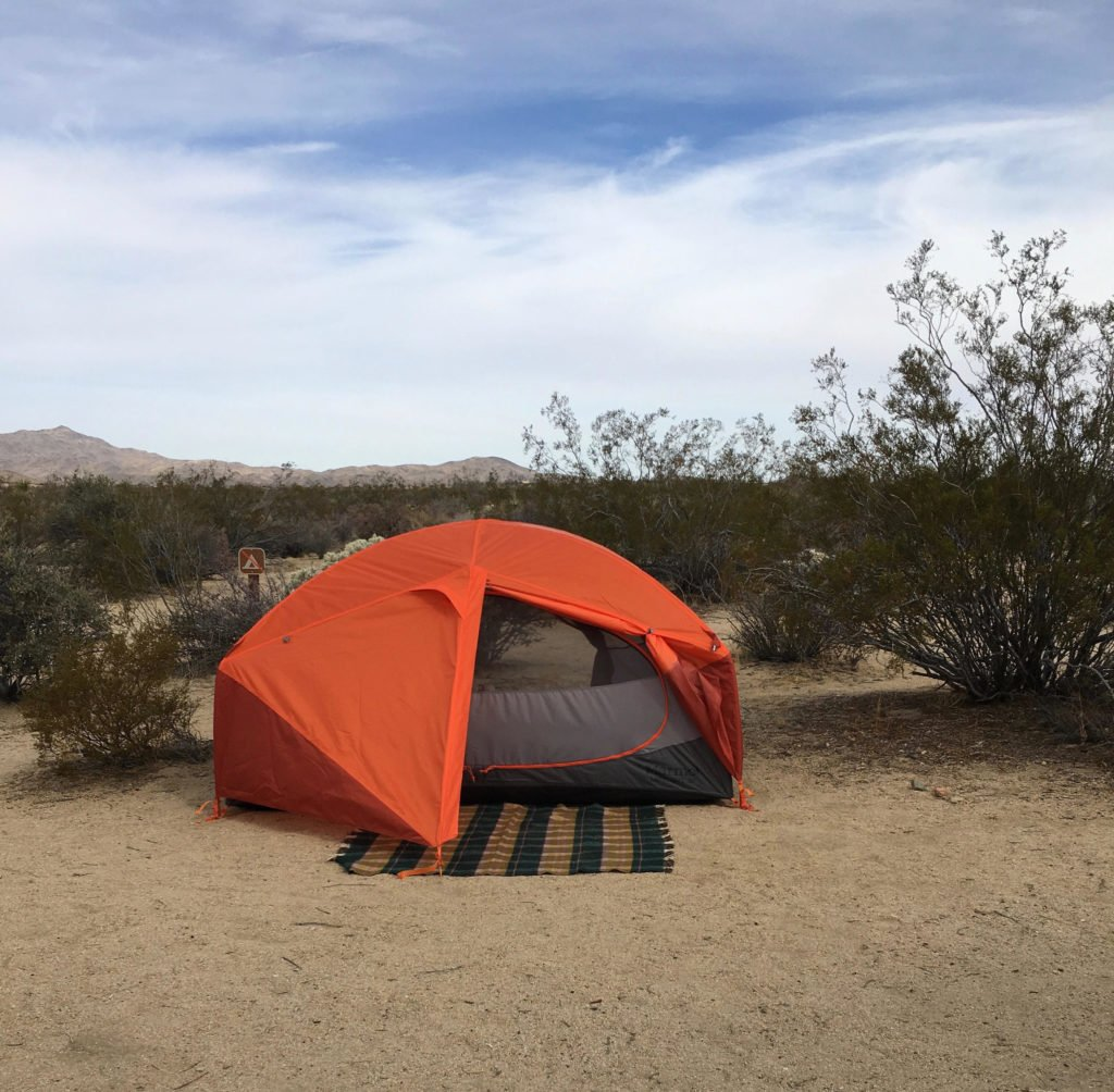 Camping at Cottonwood Campground in Joshua Tree National Park. Just one of our recommendations for the best places to stay near Joshua Tree.